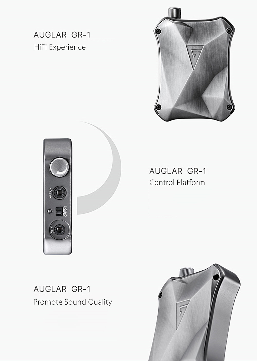 AuGlamour GR - 1 Portable Earphones Headphones Amplifier