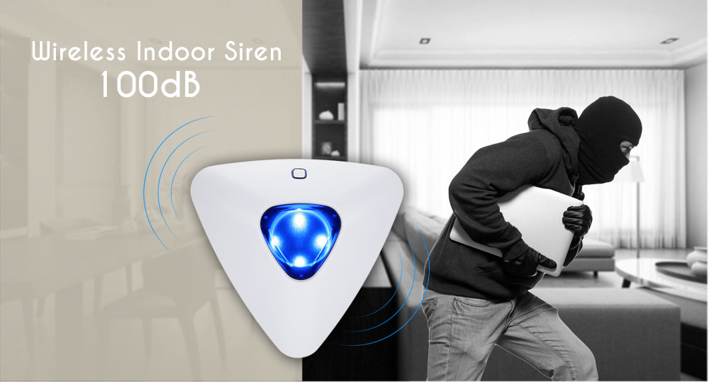 GS - SS07A Wireless Alert Indoor Siren System for Golden Security Main Panel