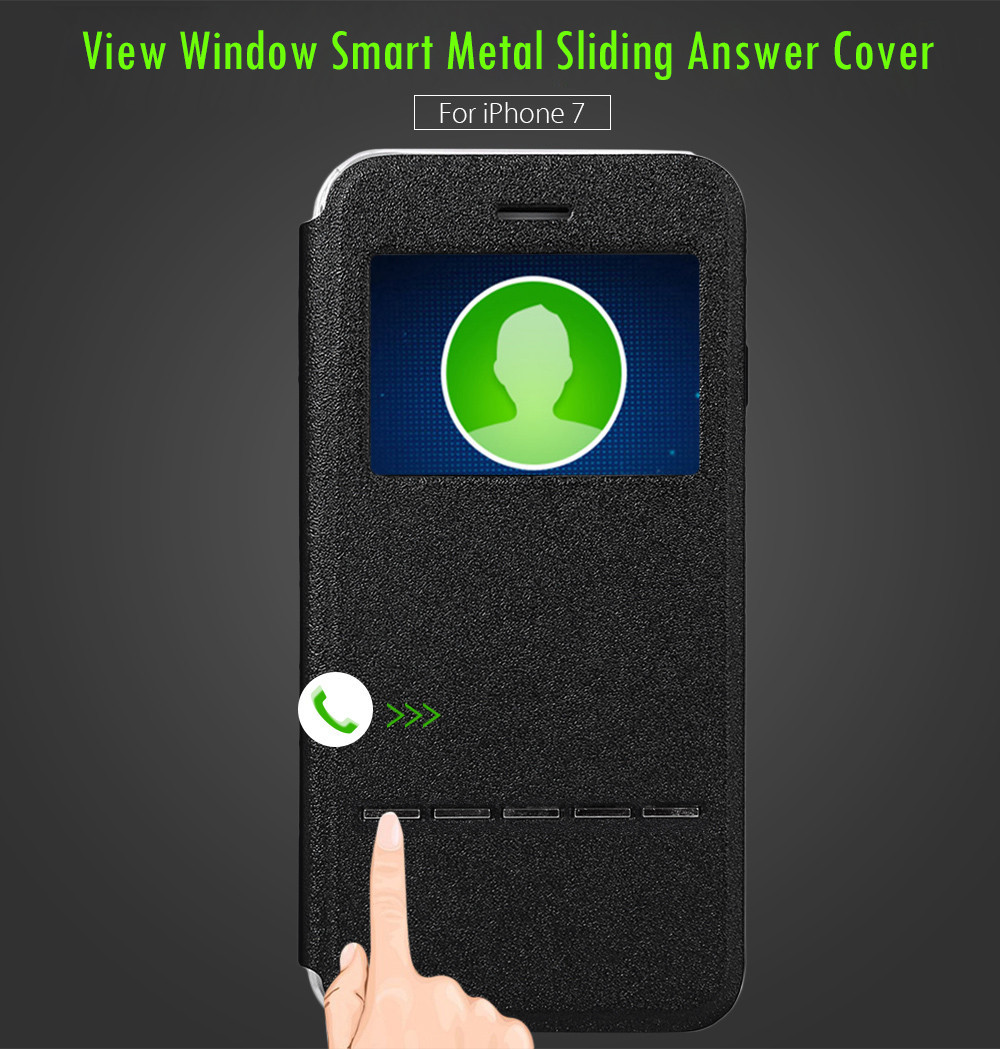 View Window Full Protective Case Cover Smart Answer for iPhone 7