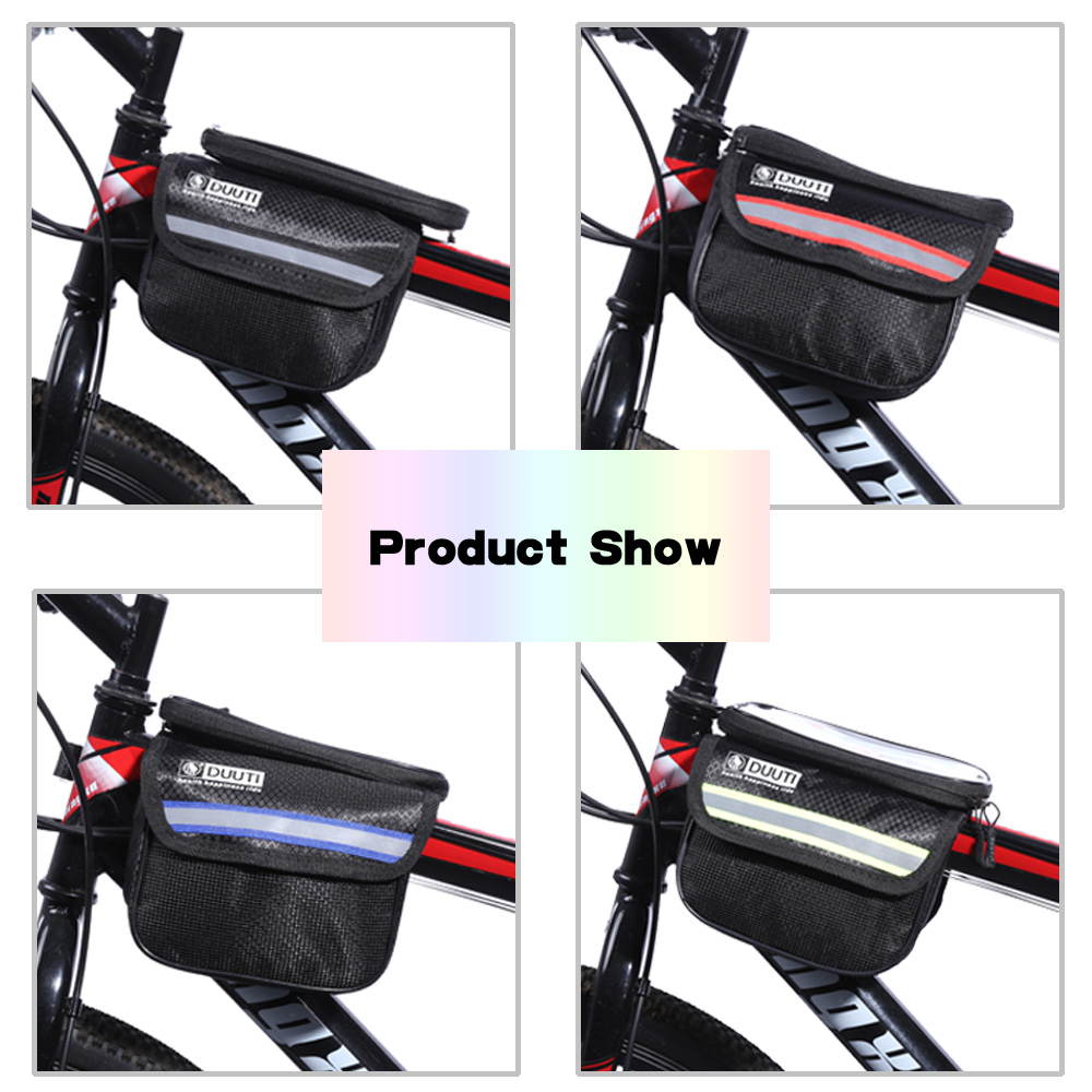 DUUTI Cycling Bike Bag Tube Top Front Frame Pannier Double Pouch for Cellphone