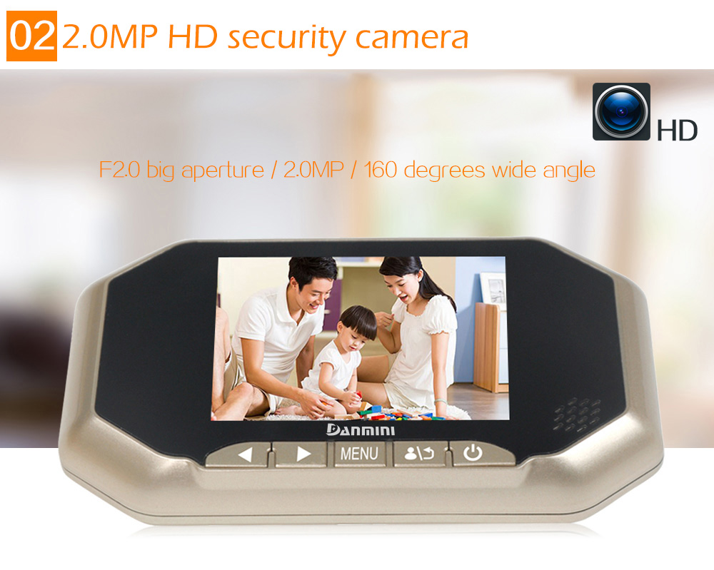 Danmini YB - 35AHD - M 3.5 inch TFT Digital Peephole Viewer