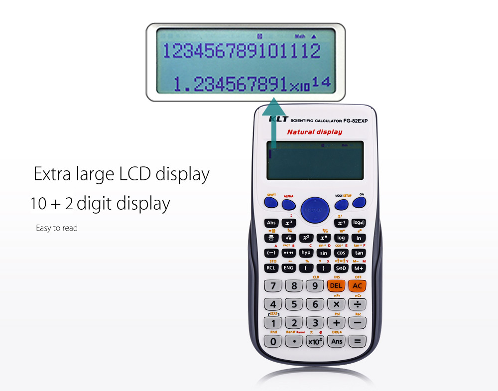 KLT FG - 82EXP Advanced Scientific Calculator for High Middle Primary School Student