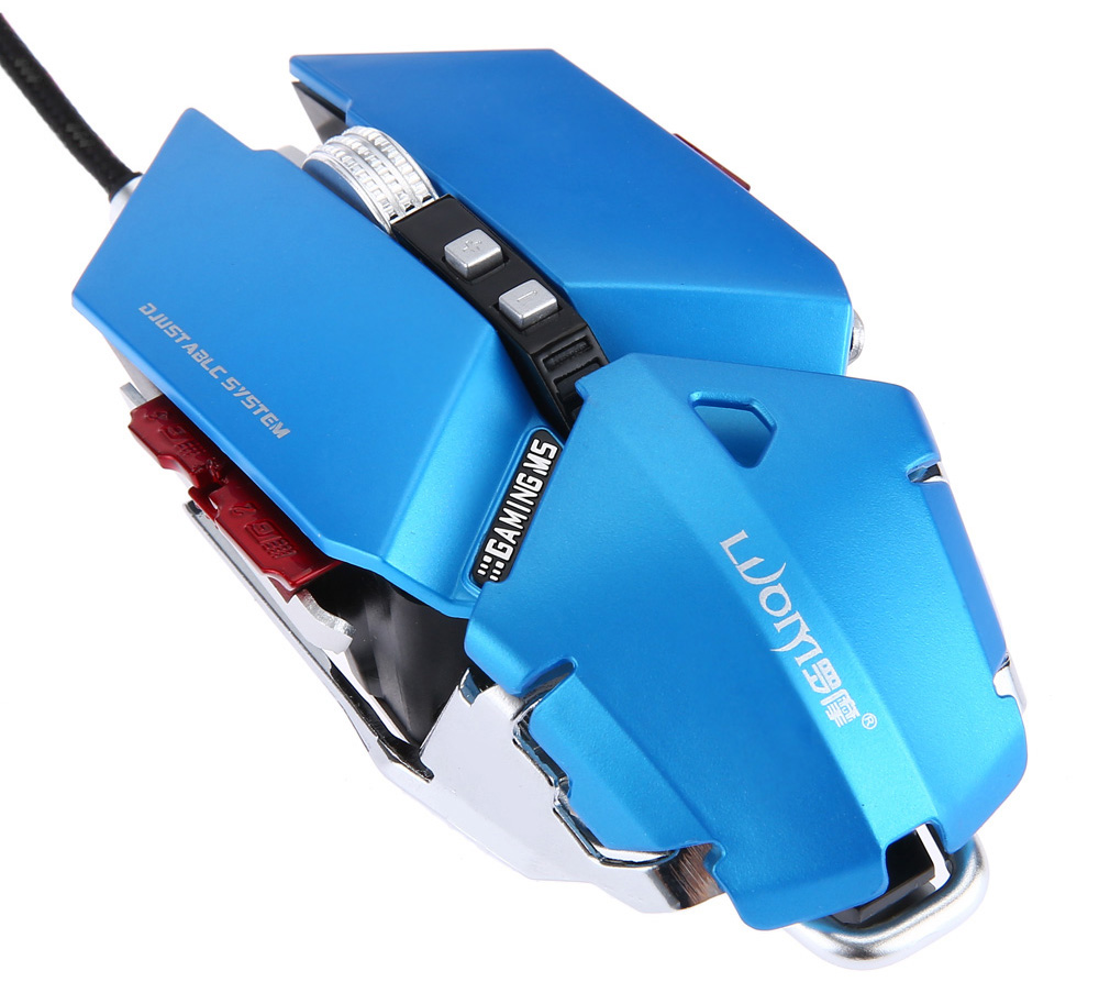 LUOM G50 Wired Programmable 10 Buttons Cool Professional Optical Mechanical Gaming Mouse