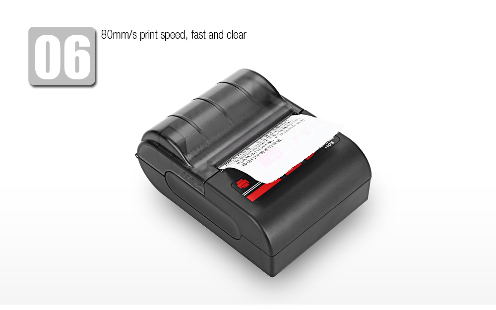 JP MTP - II 58MM Bluetooth Thermal Printer Portable Wireless Receipt Machine for Windows Android iOS