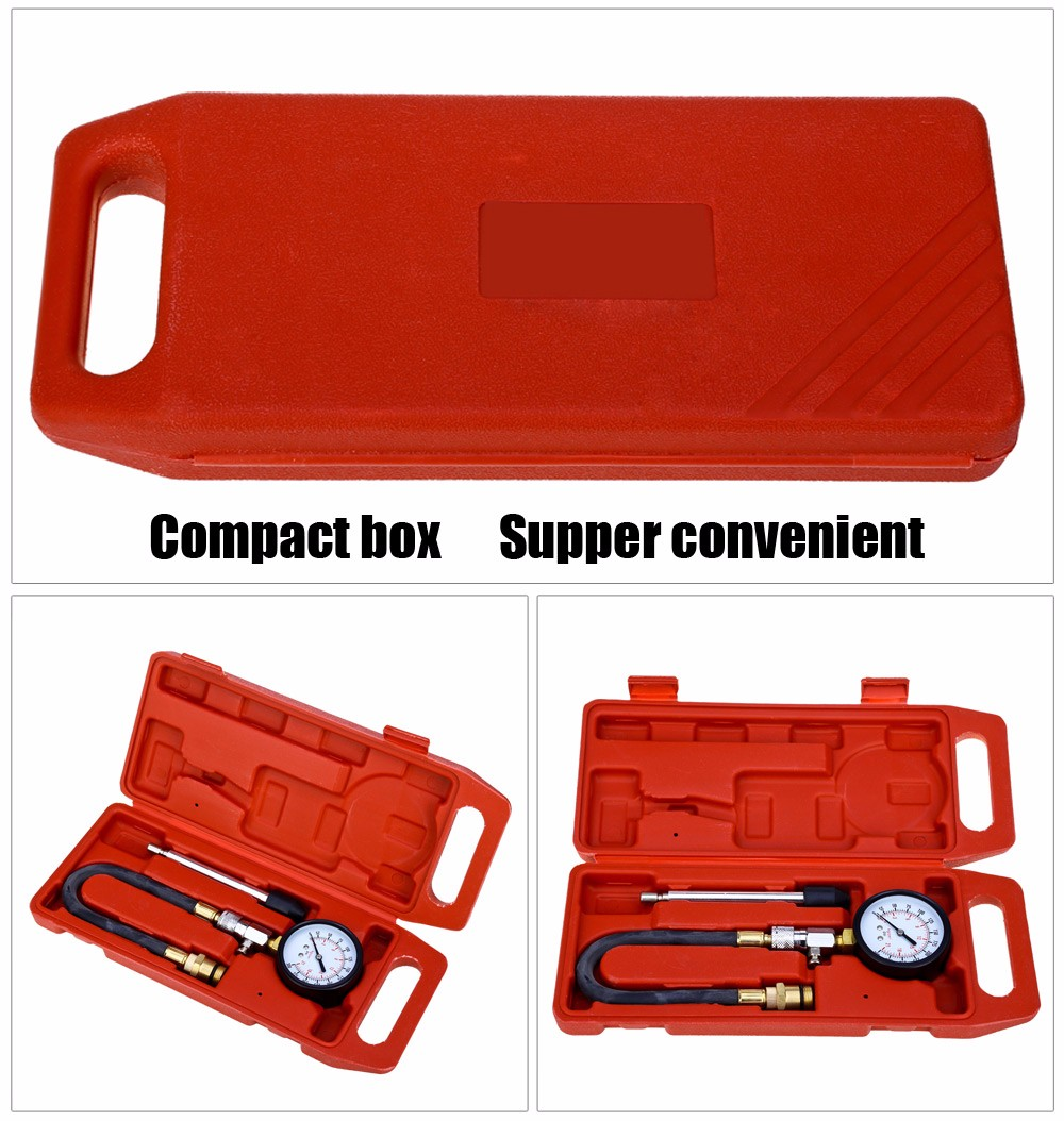 G324 Auto Motorcycle Cylinder Compression Tester Pressure Gauge Car Repairing Tool