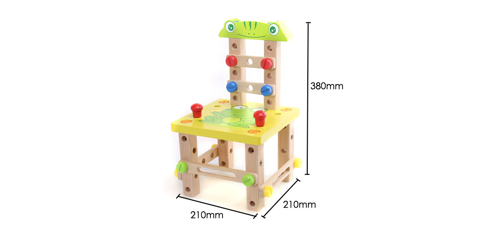 Mumama DIY Multifunctional Chair Wooden Building Blocks Assembly Disassembly Play Set Toy