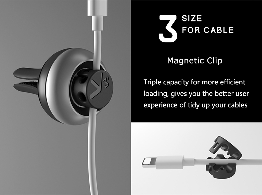 bcase TUP Cord Management Magnetic Cable Clip Car Air Vent Fragrance