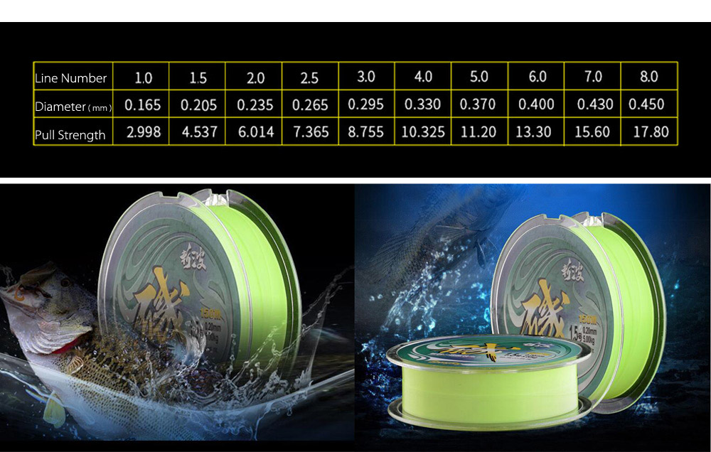 Eoongsng 150M PE Monofilament Fishing Line Strong Braided Wire