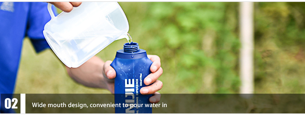 AONIJIE 500 / 250ML Water Kettle Bottle for Travel  Cross-Country Running Sports Camping Hiking
