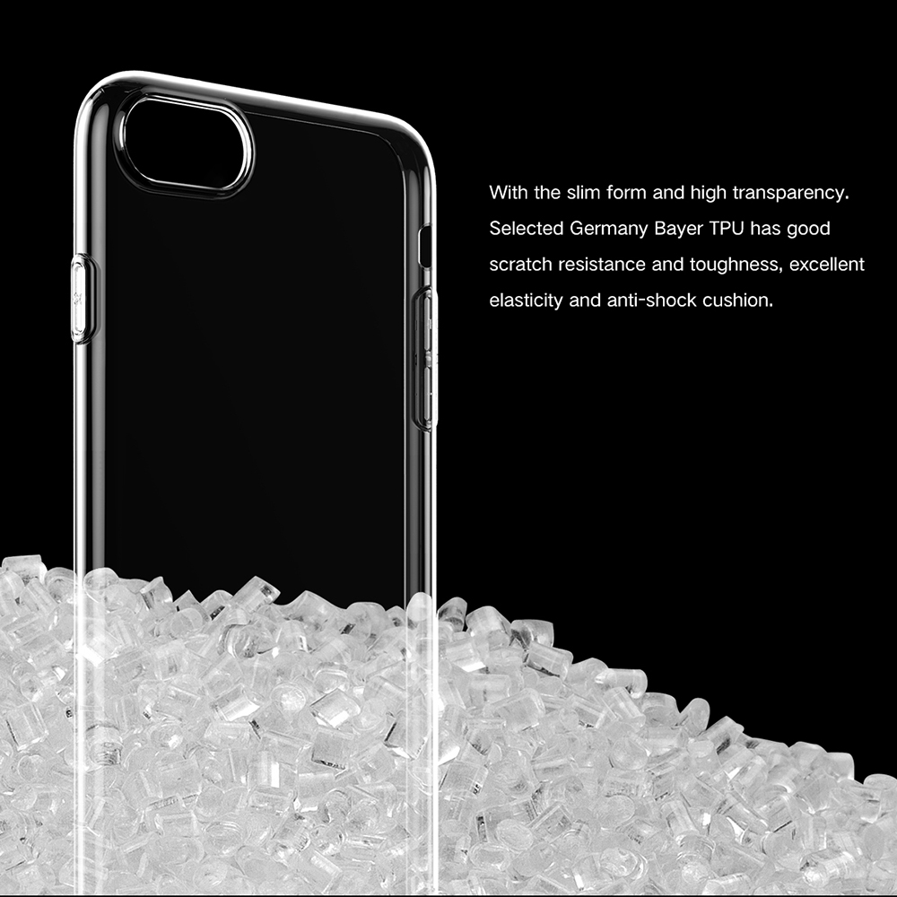 Baseus 3D Tempered Glass PET Film + Transparent Phone Shell + 8 Pin Cable Charging Protection Suit for iPhone 7