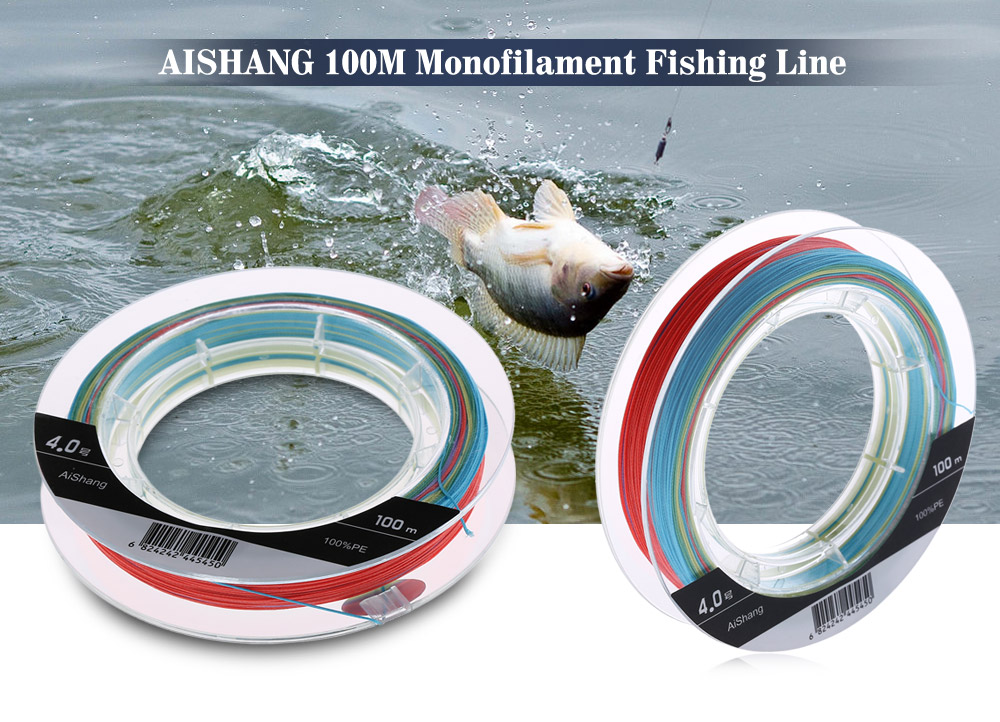 AISHANG 100M PE Monofilament Fishing Line Strong 8 Strands Braided Wire