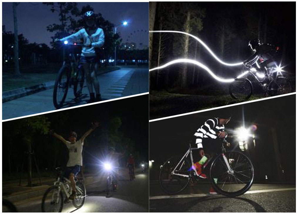 Bicycle Rear Light LED Flash Laser Lamp Bike Decoration Safety Warning Taillight
