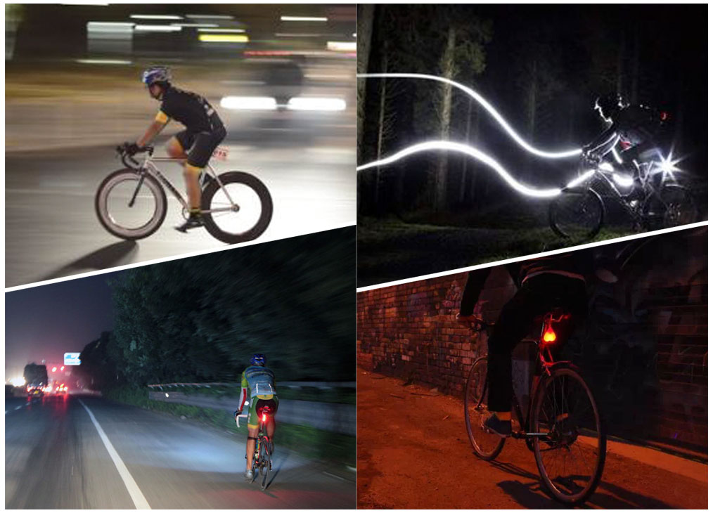 Solar Power LED Tailight Bicycle Outdoor Cycling Rear Lamp Flash Safety Warning Light