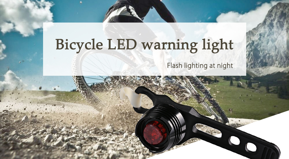 Bicycle Rear Light Red Lightness LED Flash Taillight Safety Warning Lamp