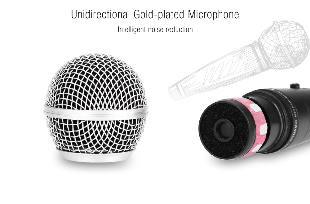 WEISRE M - 58 Unidirectional Wired Cardioid Broadcasting Recording Condenser Microphone