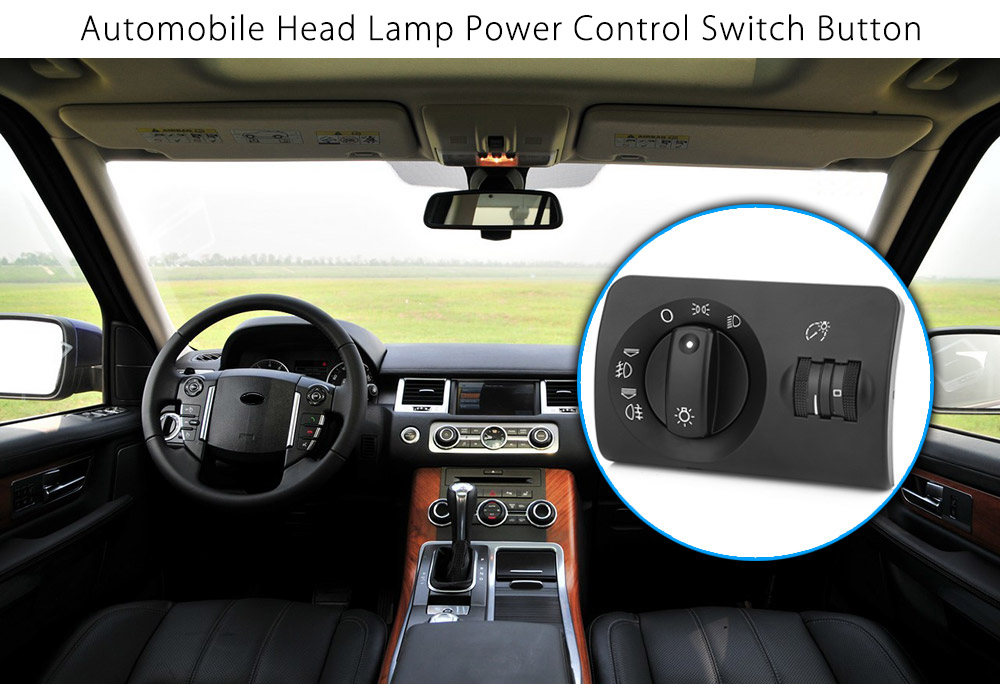 Automobile Car Headlight Fog Lamp Power Control Switch Button for Audi
