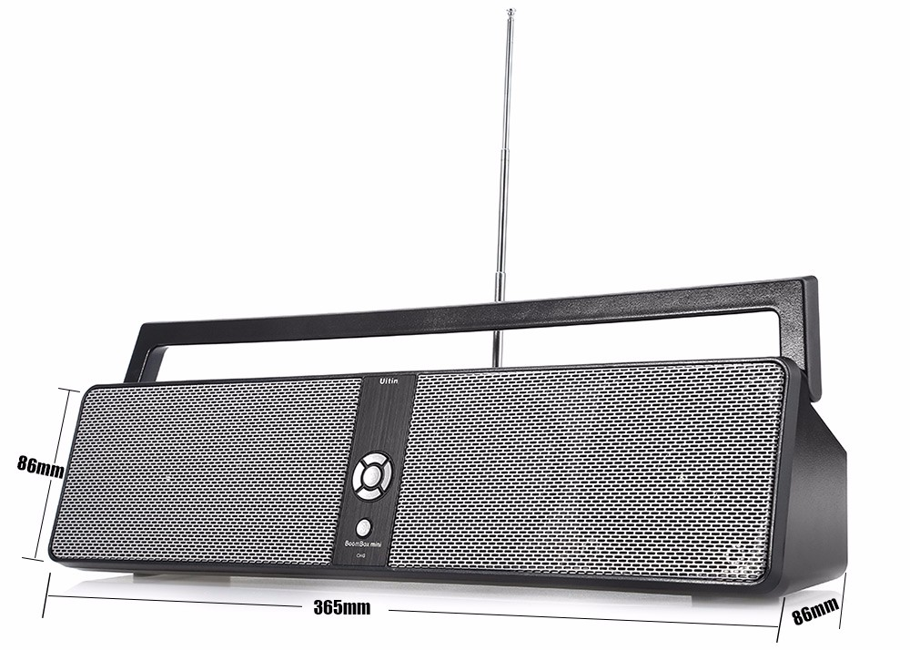 BTK 3301 Portable HiFi Boombox Wireless Bluetooth Speaker with USB Input AUX Input TF Card Playing FM Function