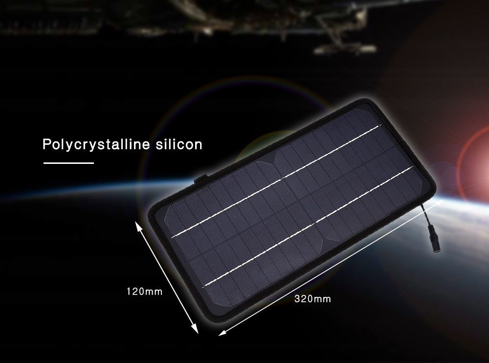 4.5W 18V Solar Panel Car Battery Charger Outdoor Power Supply
