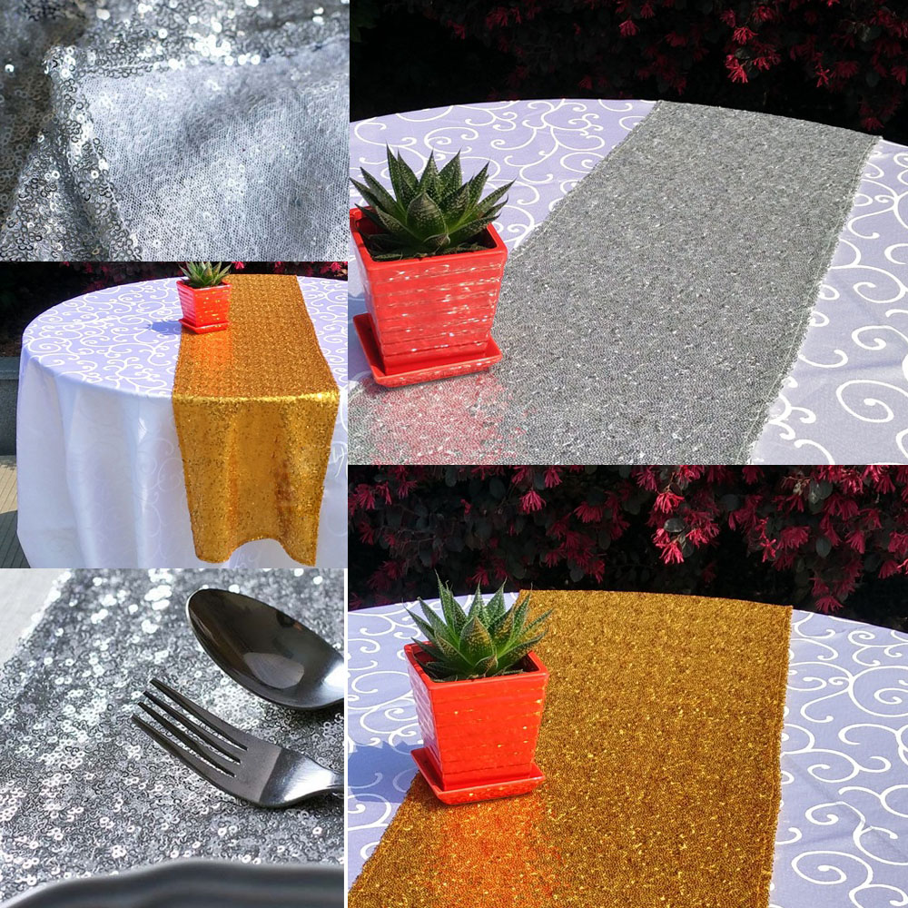 180 x 30cm Sequin Table Runner for Wedding Party