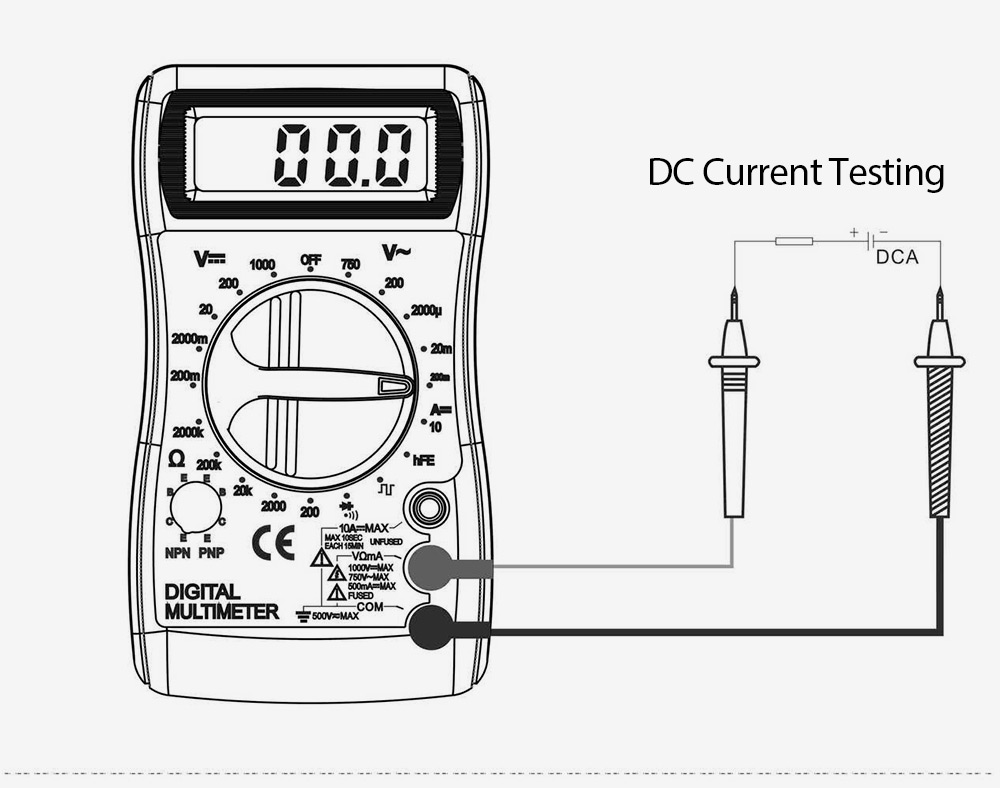 whdz dt820d lcd digital multimeter voltmeter