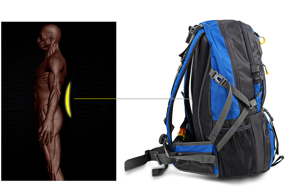 HUWAIJIANFENG 50L Outdoor Sport Traveling Climbing Backpack Multifunctional Hiking Bag
