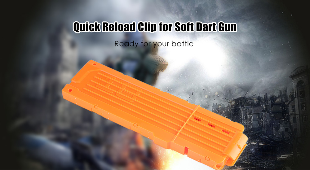 18 Shots Children Plastic Quick Reload Clip for Soft Dart Gun Toy