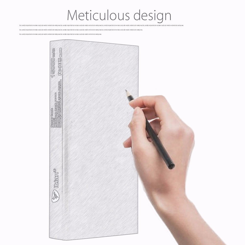 Itian A1 15000mAh Power Bank QC3.0 Quick Charging Dual USB Output