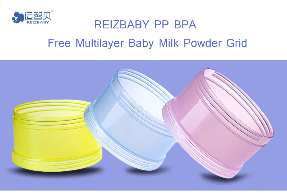 REIZBABY Portable Baby PP BPA Free Multilayer Breast Feeding Milk Powder Grid Snack Box Storage Box
