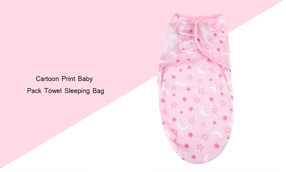 JUST TO YOU Sweet Soft Infant Newborn Baby Cartoon Print Fluorescent Agent Free Swaddling Pack Towel Sleeping Bag Hold Blanket