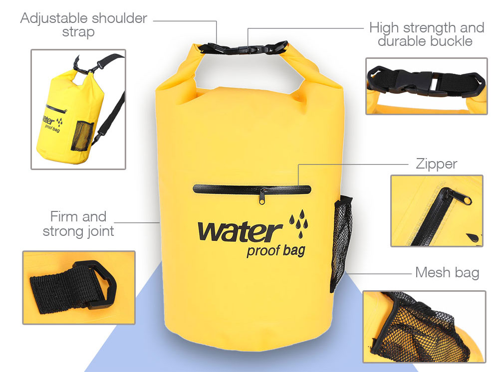 Multifunctional Waterproof Dry Case Bag with Zipper for Swimming Rafting Drifting Camping Travel