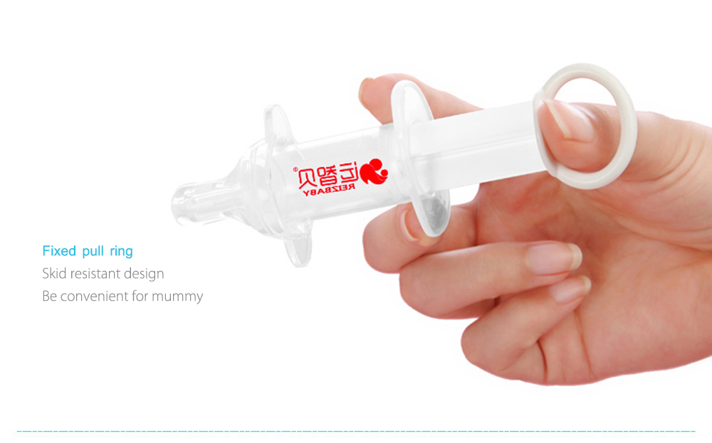 REIZBABY Silicone Nipple Feeding Medicine with Scale Syringes Measuring Cup