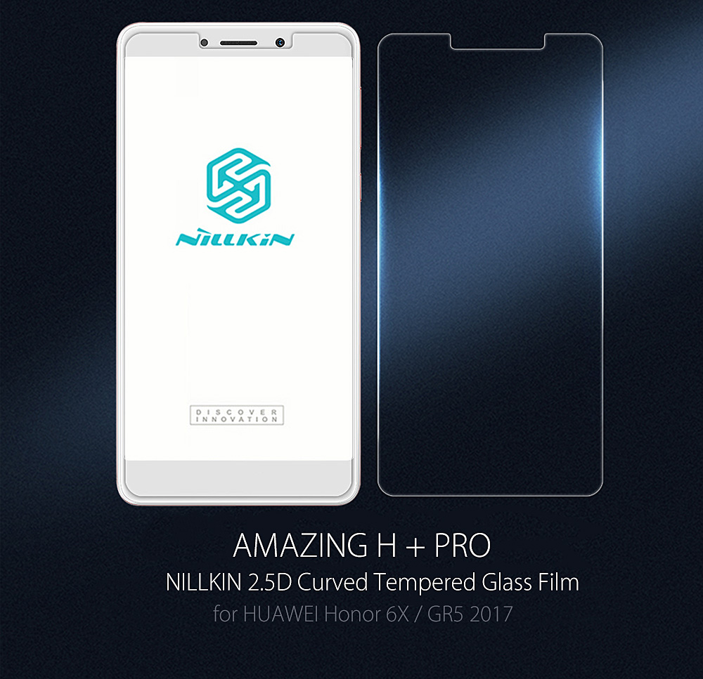 NILLKIN H + PRO 2.5D Curved Tempered Glass Shatterproof Non Full Screen Protective Film for HUAWEI Honor 6X / GR5 2017 0.2mm