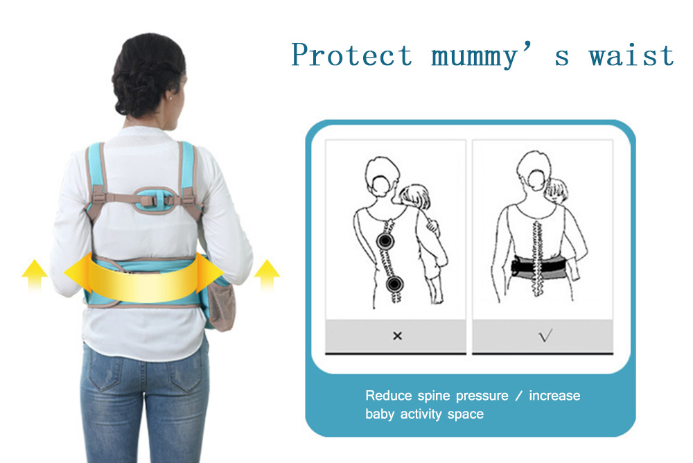 Mambobaby Comfortable Breathable Multifunctional Baby Hip Seat Carrier Waist Stool with Bag