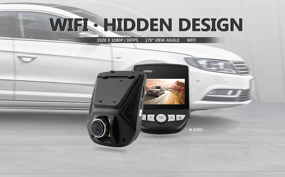BLACKVIEW A305 2.45 inch Car DVR Automobile Data Recorder WiFi 1080P 170-degree LCD Screen Camcorder
