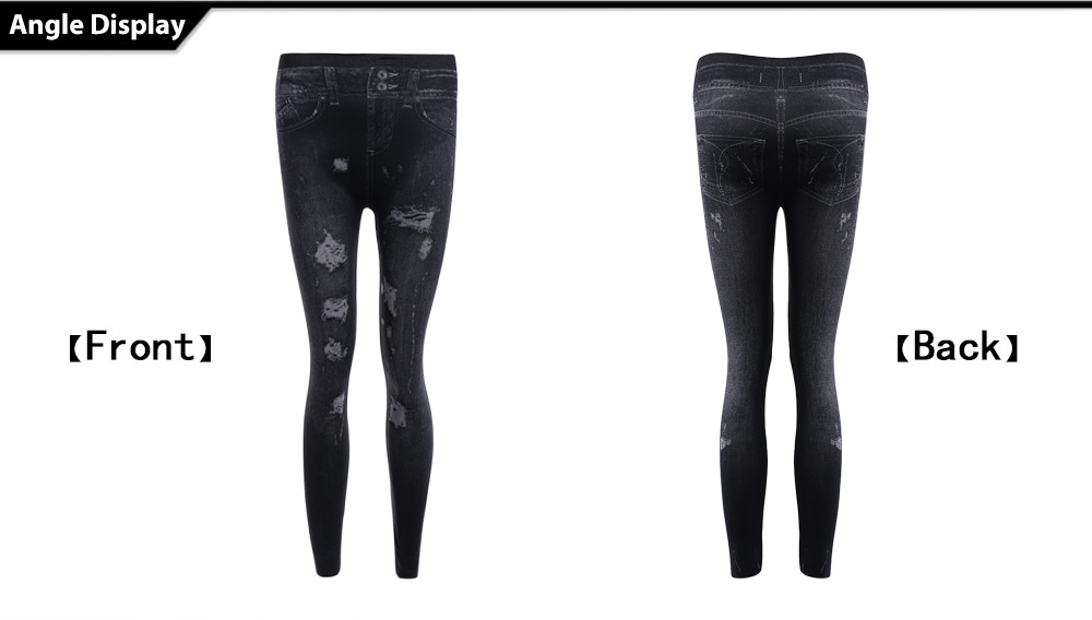 Trendy High Waist Ripped Skinny Jeans for Women