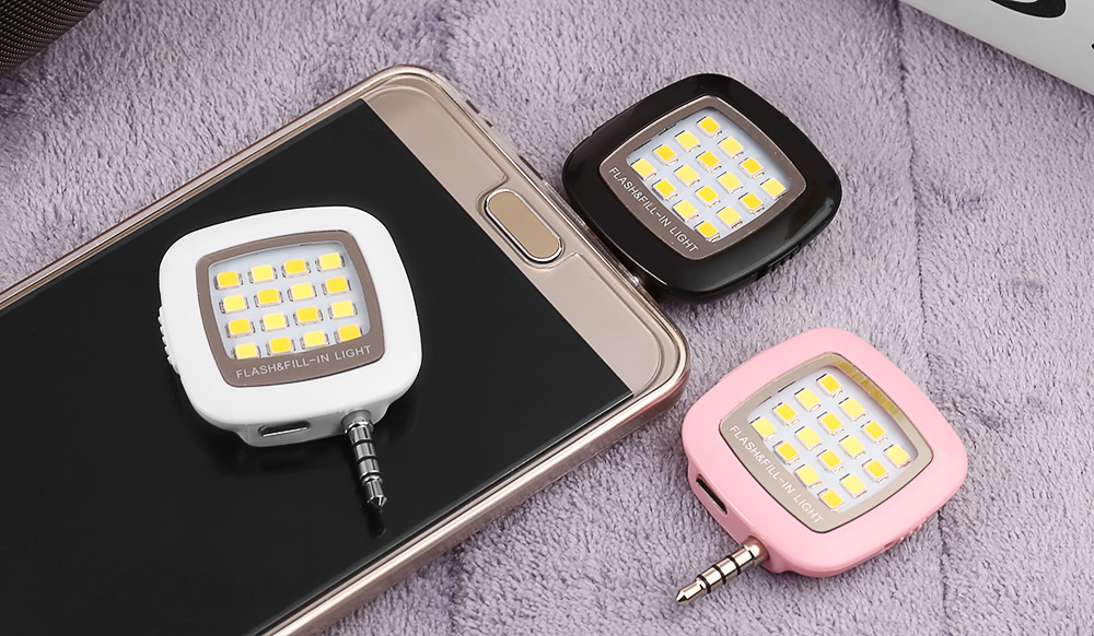 16 LED Self-timer Flash Fill-in Light Universal Phone and Tablet