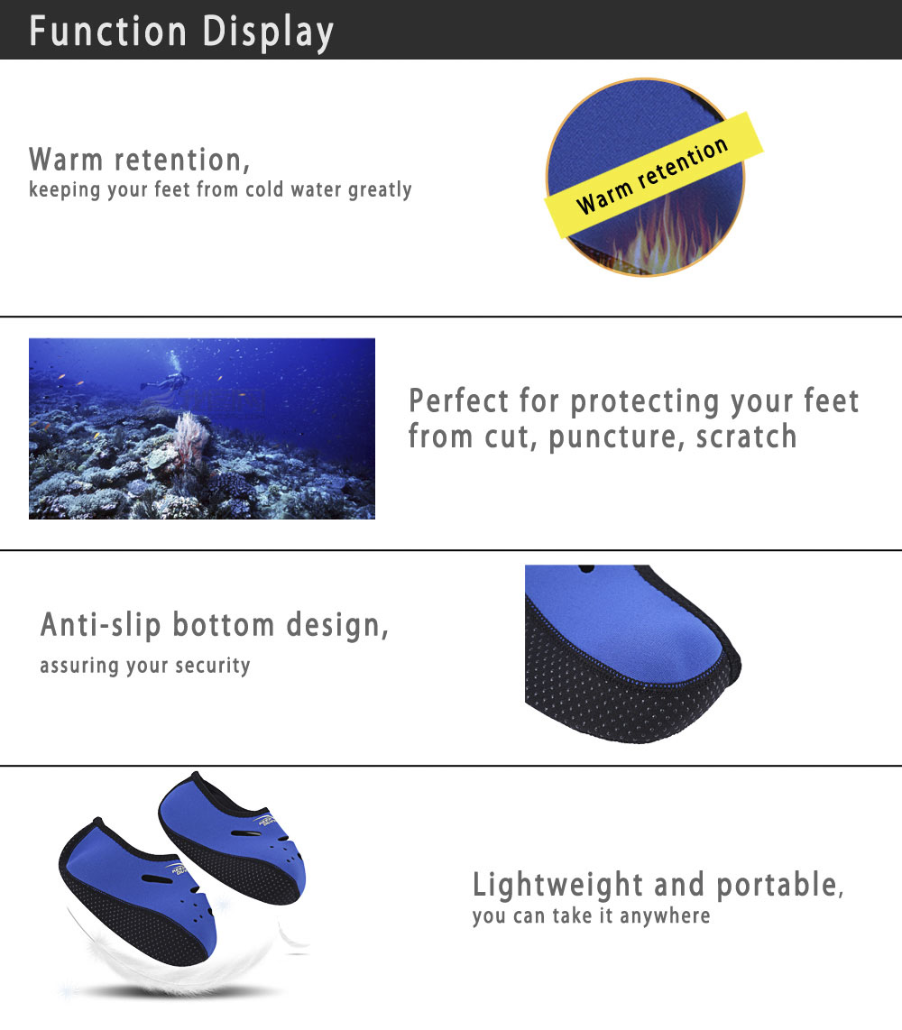 KEEPDIVING Warmth Short Snorkeling Diving Socks for All Water Sport