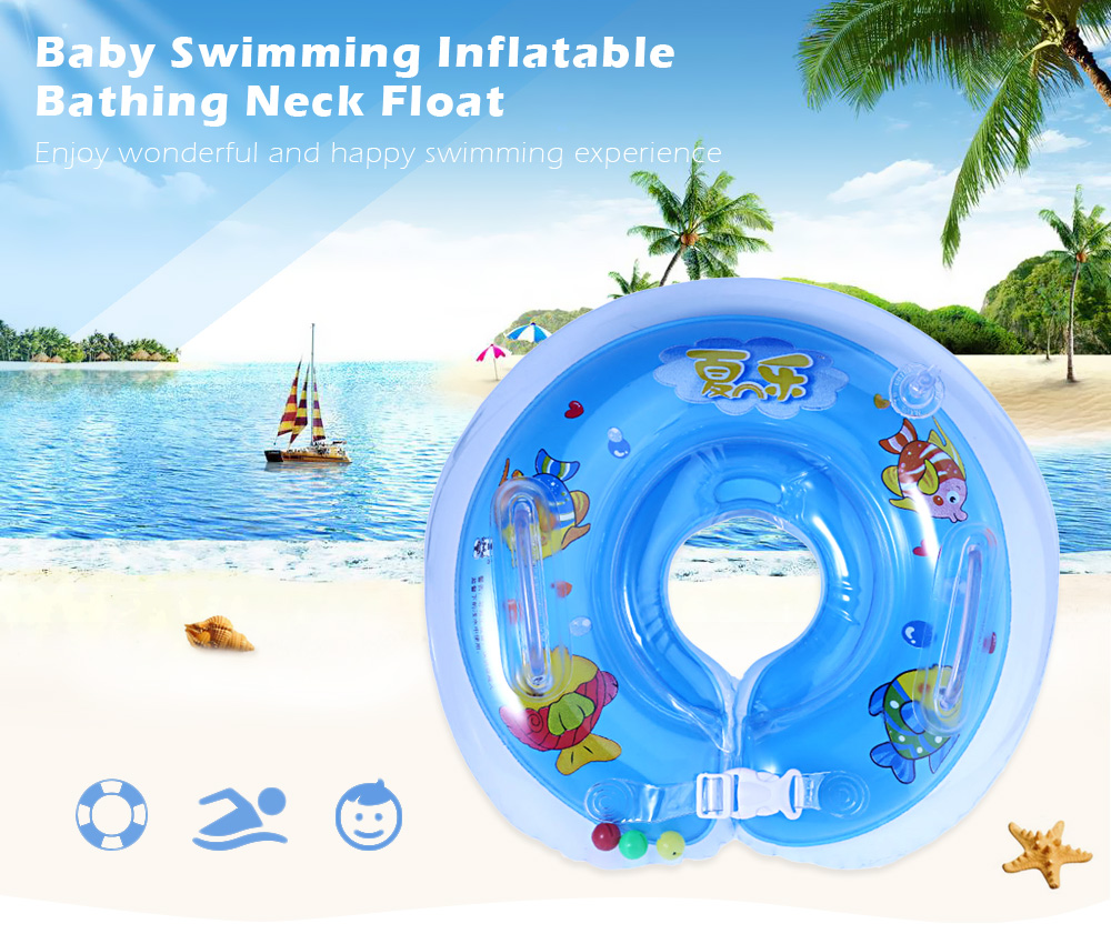 Summer Sea Baby Swimming Circle Inflatable Neck Float Bathing Safety Tube Ring
