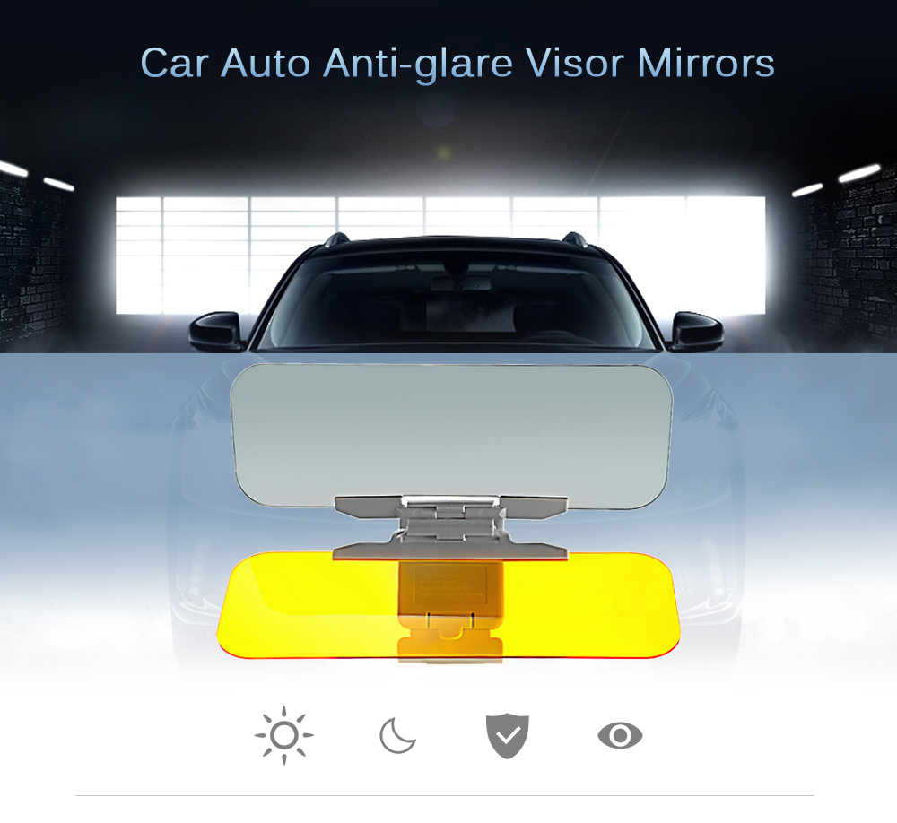 Car Auto Day / Night Anti-glare Sun Visor Mirrors Glass