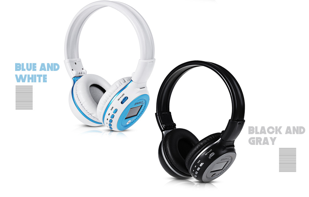 Zealot B570 LED Screen WiFi Stereo Bluetooth V4.0 Headphones with FM Radio