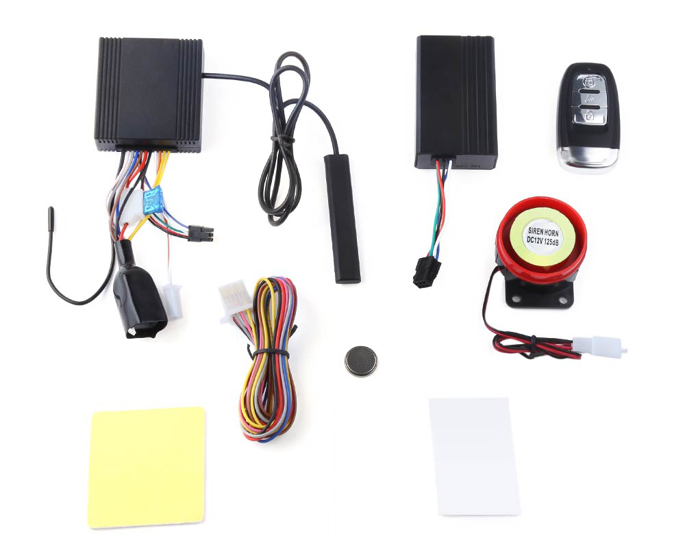 NTG02P PKE Keyless Entry Two Way LCD Motorcycle Alarm System Remote Central Kit