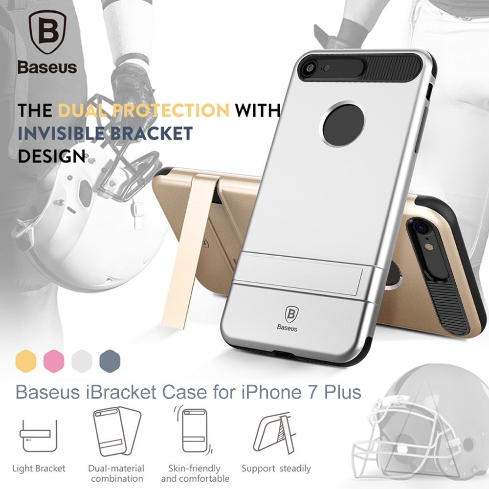 Baseus WIAPIPH7 - SS0A iBracket Case with Kickstand Back Cover for iPhone 7 Plus 5.5 inch
