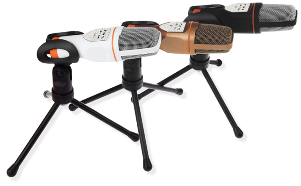 Yanmai Professional Condenser Sound Microphone with Stand for PC Laptop Skype Recording
