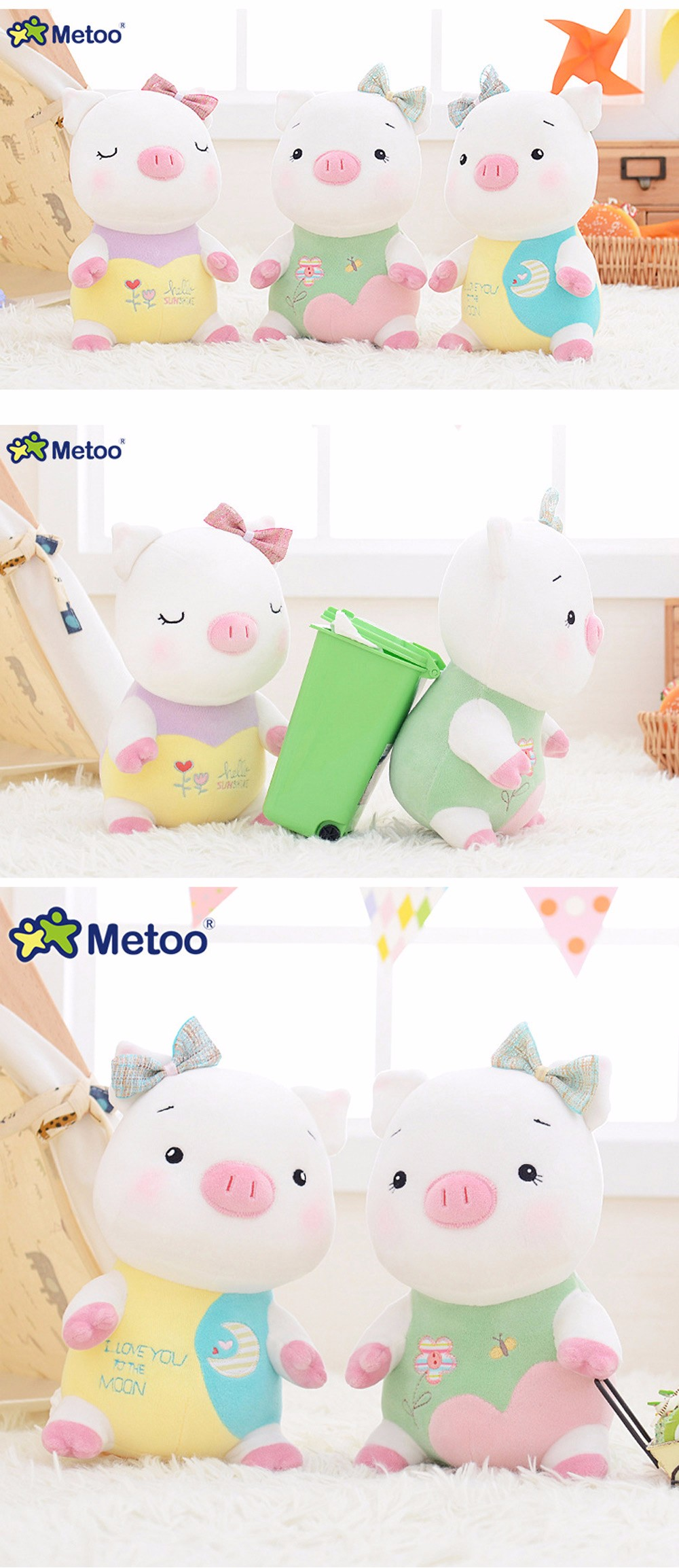Metoo Little Pig Plush Doll Toy Birthday Christmas Gift