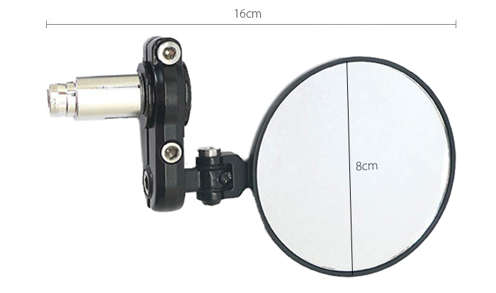 Paired Universal Motorcycle Side Back Round Rear Mirror