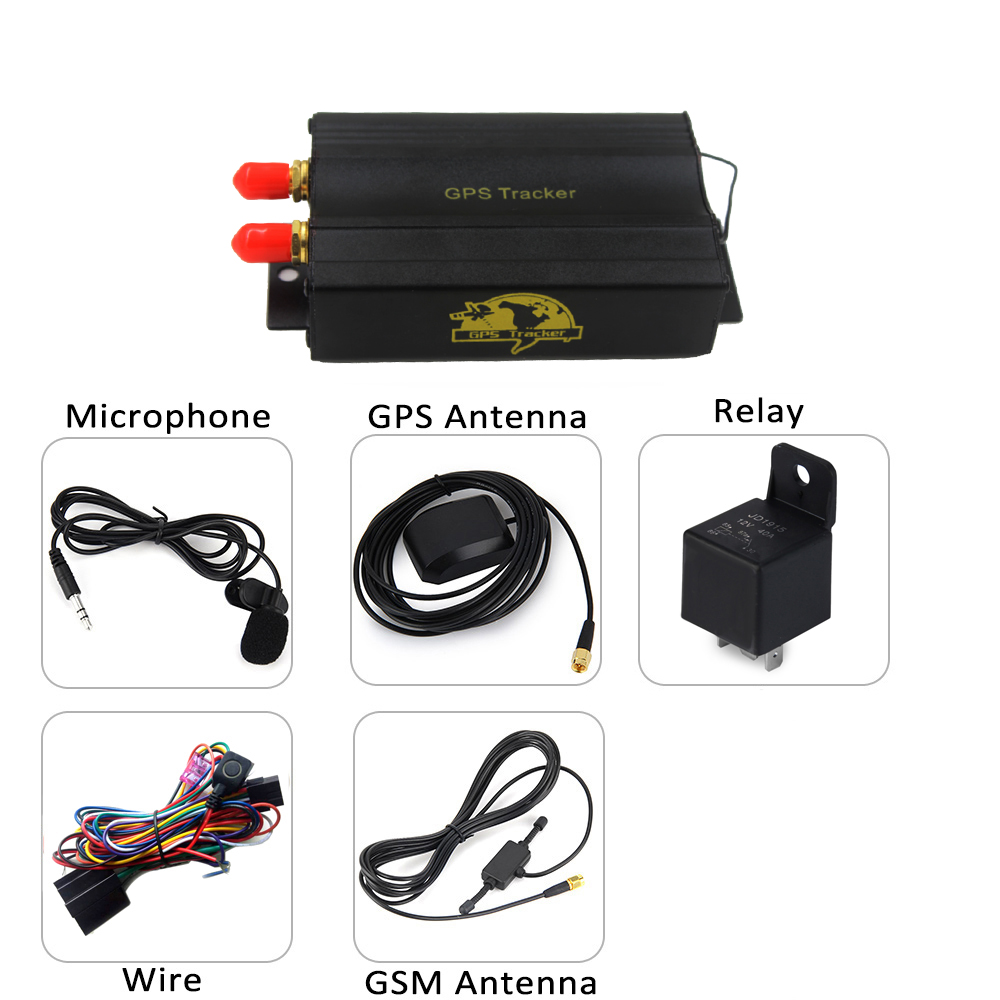 TK103B GPS SMS GPRS Vehicle Tracker Locator With Remote Control Alarm SD SIM Card Anti-theft