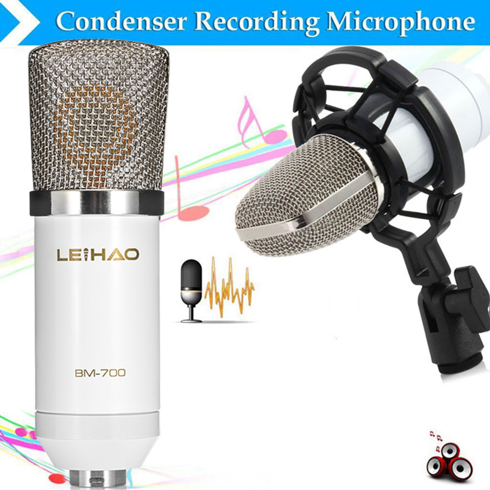 LEIHAO BM - 700 Condenser Sound Recording Microphone with Shock Mount for Radio Braodcasting
