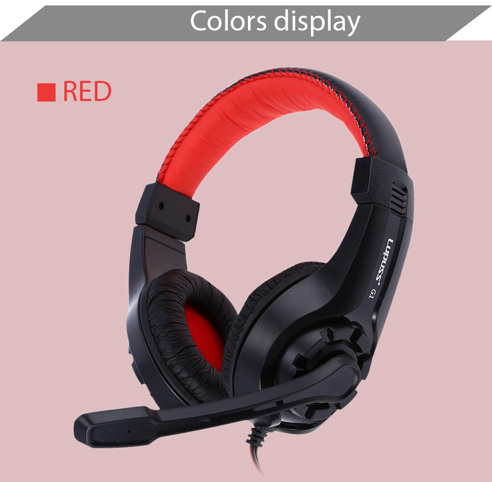 Lupuss G1 3.5mm Surround Stereo Gaming Headset Headband Headphone with Mic for PC