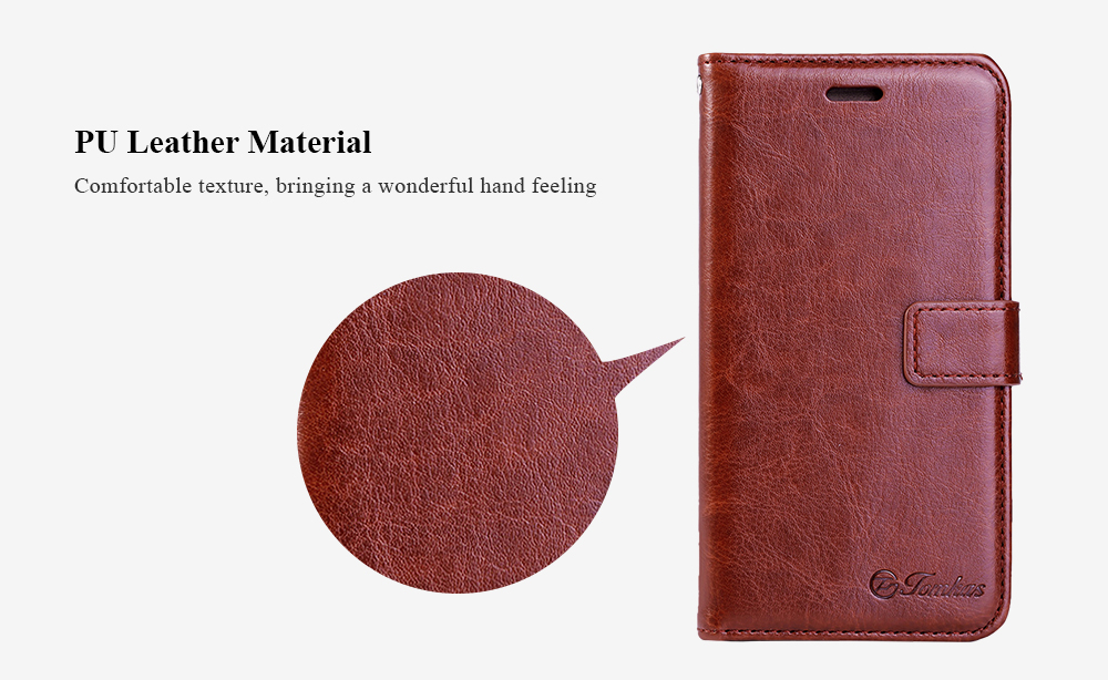Tomkas Crazy Horse Series Magnetic Flip PU Leather Stand Case Wallet Cover for Xiaomi Redmi 3S / 3 Pro