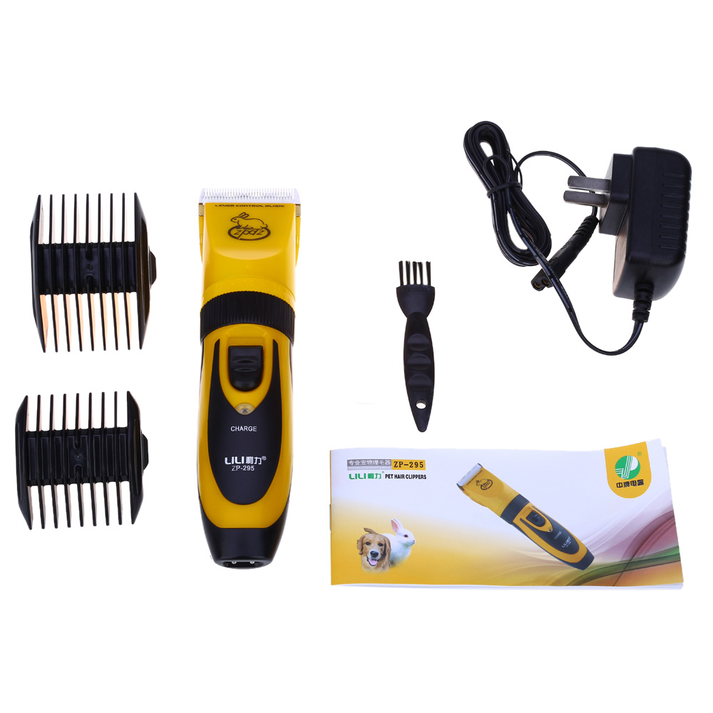 LILI Professional Rechargeable Electric Cordless Pet Hair Clipper Cutter Scissor with Grooming Kit